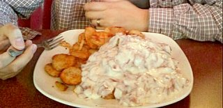 a mountain of creamed chipped beef