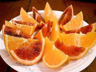 orange and blood orange slices